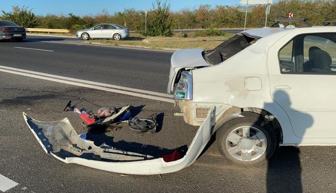 Accident rutier pe DN39. O maşină s-a răsturnat pe partea carosabilă - 1-1600190339.jpg