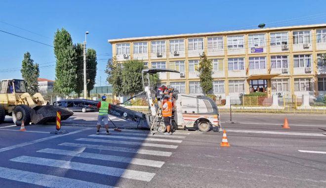 Foto: Trecerea de pietoni din zona Școlii Gimnaziale Nr. 23 va fi prevăzută cu scuar