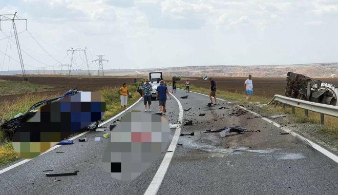 Foto: ACCIDENT MORTAL în județul Constanța. Intervine elicopterul SMURD