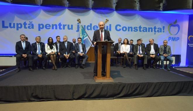 """Foto: Mesaj pentru electoratul PMP, de la Constanța: """"De la Dunăre la Nistru, Băsescu să fie prim-ministru"""""""