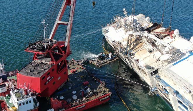 Noutăți privind scoaterea la suprafață a epavei din portul Midia - 18febrnavamidiasursagsp3-1582015743.jpg