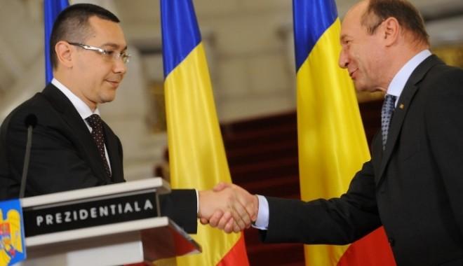 Foto: TRAIAN BĂSESCU și VICTOR PONTA, consultări la Cotroceni