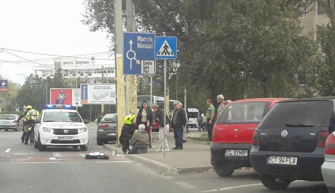 Foto: ACCIDENT RUTIER LA CONSTANȚA. VICTIMA, un pieton lovit pe trecere