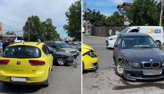 Foto: FEMEIE RĂNITĂ, într-un accident rutier, în Constanța!
