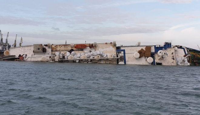 Foto: CATASTROFĂ NAVALĂ LA MIDIA! Informație de ultim moment despre nava scufundată ieri