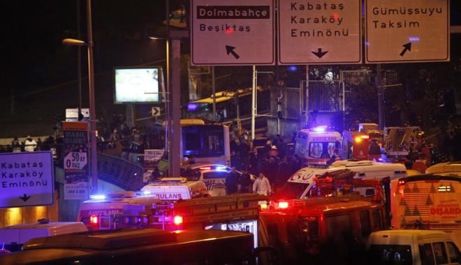 Foto: Atentate sângeroase la Istanbul.  29 de morți după explozia a două bombe, pe stadionul Beșiktaș