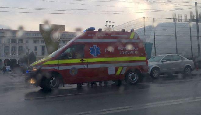 Foto: Pieton lovit de mașină, în Mamaia