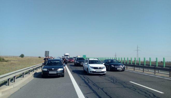 Foto: ACCIDENT PE AUTOSTRADA A4, între Ovidiu și Agigea