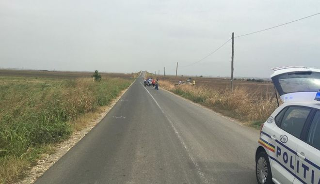 Foto: Accident rutier la Ovidiu, după ce un șofer a pierdut controlul volanului