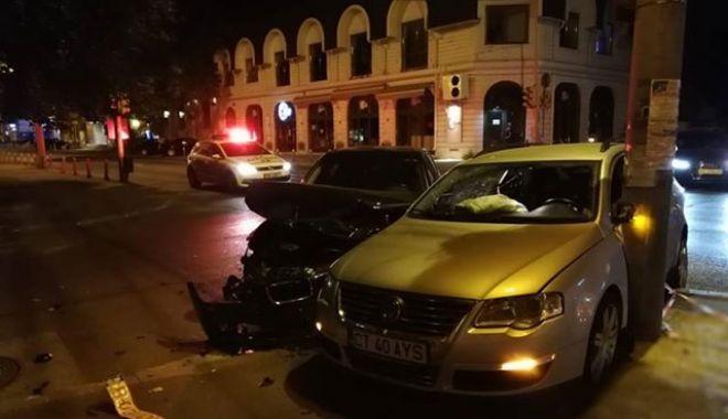 Foto: ACCIDENT RUTIER LA CONSTANȚA, din cauza unui șofer care nu a oprit la STOP. Ce spune Poliția Rutieră