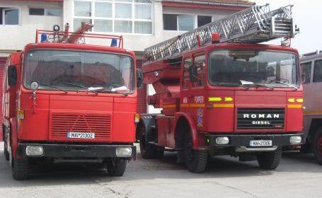 Foto: Incendiu la o fabrică de pâine din Medgidia