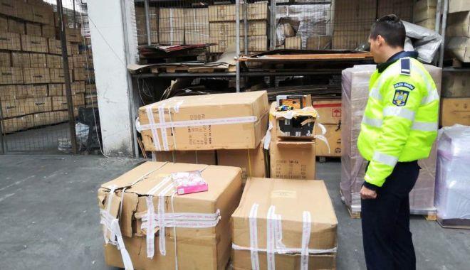 Foto: Mărfuri contrafăcute, indisponibilizate de oamenii legii din Constanța