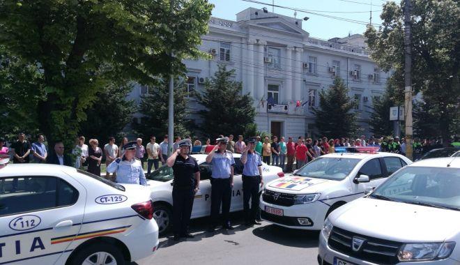 Foto: Momente de reculegere la Constanța, pentru polițistul împușcat în gât de un infractor