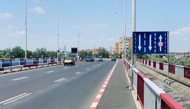 Foto: Șoferi, atenție! Noi măsuri privind traficul rutier pe podul Năvodari