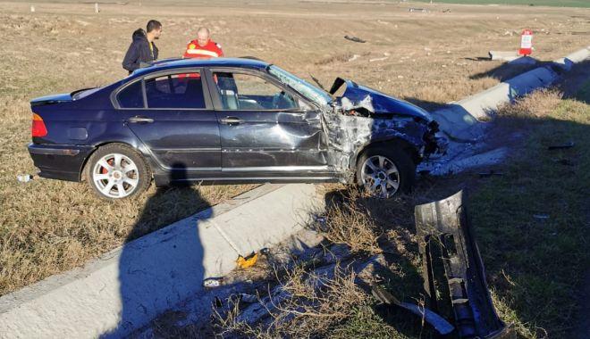 Foto: Galerie foto-video. Accident GRAV la Constanța: S-A RĂSTURNAT CU MAȘINA!