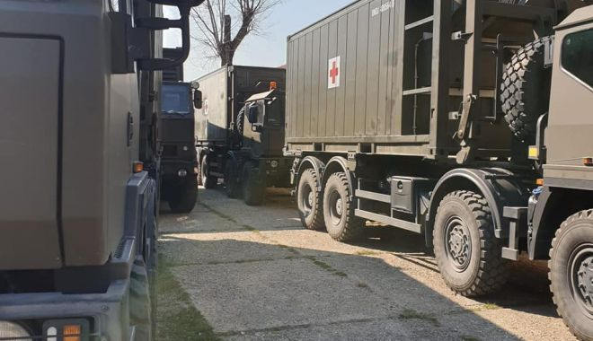 Foto: Spitalul militar mobil din Constanța, amplasat pe stadionul Portul