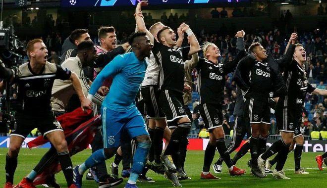 Foto: Real Madrid, eliminată de Ajax din Liga Campionilor, după 1-4 pe Bernabeu