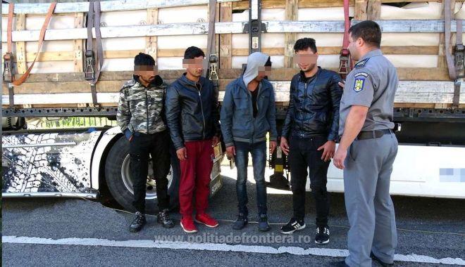 Foto: Patru cetățeni afgani, ascunși într-un camion, printre pepeni!