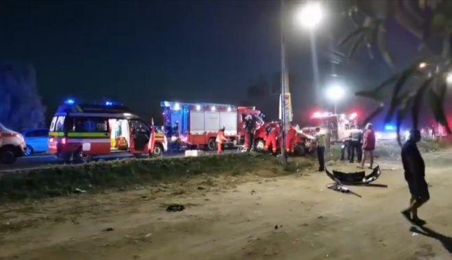 Foto: Accident rutier cu două victime încarcerate între Eforie Nord și Eforie Sud