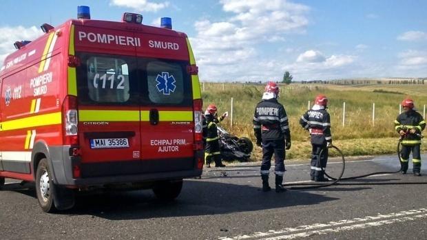 Foto: Accident rutier pe drumul spre Kogălniceanu. Sunt două victime!