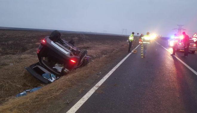 Foto: Doi tineri morți, la Constanța, într-un accident provocat de un șofer băut. GALERIE FOTO