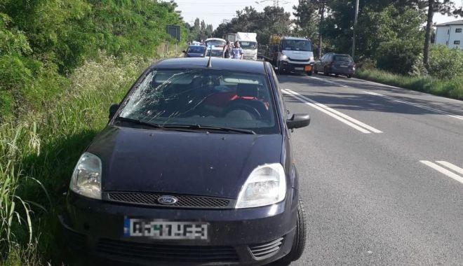Foto: Accident rutier GRAV în Eforie Nord. Victima, preluată cu elicopterul