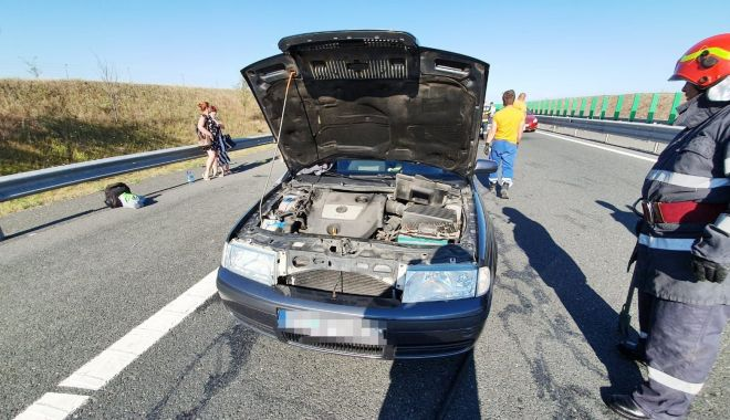 Foto: ACCIDENT GRAV, pe Autostrada Soarelui, spre litoral! 9 victime au ajuns la spital!
