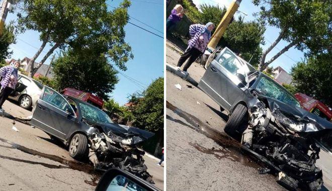 Foto: Mașini făcute praf și victime, într-un GRAV ACCIDENT din KM 5!