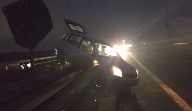Foto: Accident spectaculos pe autostrada A4, în această dimineață