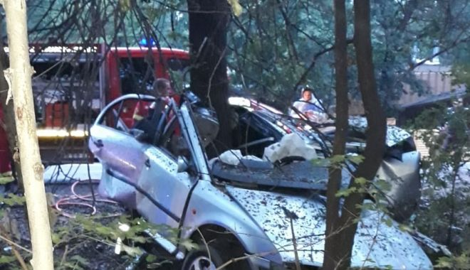 Tragedie din cauza vitezei: un tânăr a murit, iar mașina a fost ruptă în două! - accidvalumarianailincai3-1569429915.jpg