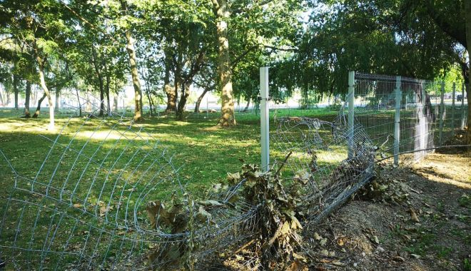Foto: Acte de vandalism în Parcul Tăbăcărie. Primăria face apel la cetățeni