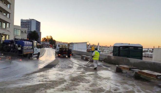 Foto: Acțiuni de dezinfecție, în stațiunea Mamaia