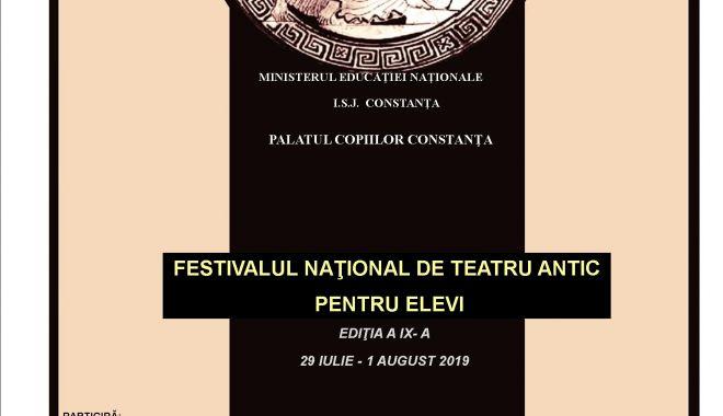 Foto: Festivalul Național de Teatru Antic pentru Elevi, organizat la Constanța