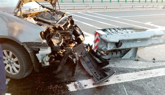 Foto: Accident cu patru răniți, la ieșire din Autostrada A4
