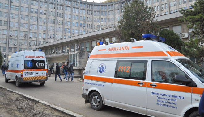 Foto: ALERTĂ LA AMBULANȚA CONSTANȚA. Bărbat rănit grav, de urgență la spital