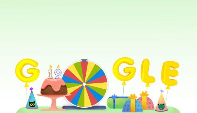 Foto: Aniversare GOOGLE. Cel mai popular motor de căutare sărbătorește cu un doodle