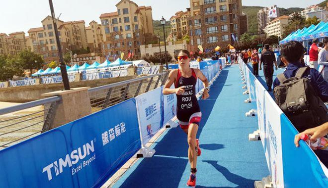 Foto: Antoanela Manac, locul 33 la Weihai ITU Triathlon World Cup