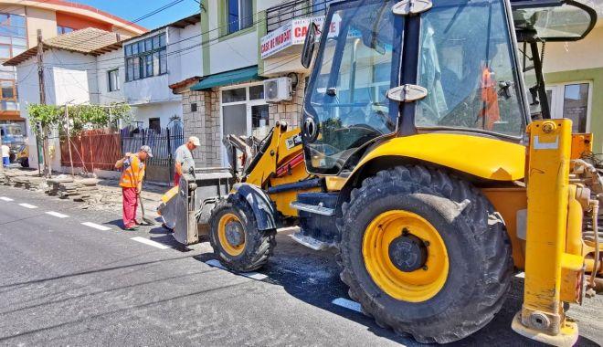 Foto: Atenție, constănțeni! Lucrări de reabilitare a trotuarelor de pe strada Farului