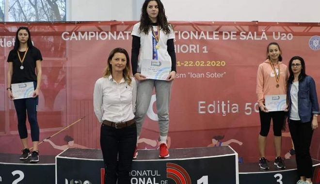 Foto: Atleta Ioana Colibășanu, campioană națională la triplusalt