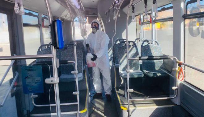 Foto: Coronavirus. Autobuzele CT BUS sunt permanent dezinfectate