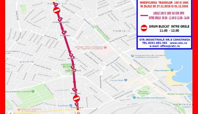 Foto: Atenție, călători! Autobuzele de pe liniile 100 și 100C circulă deviat