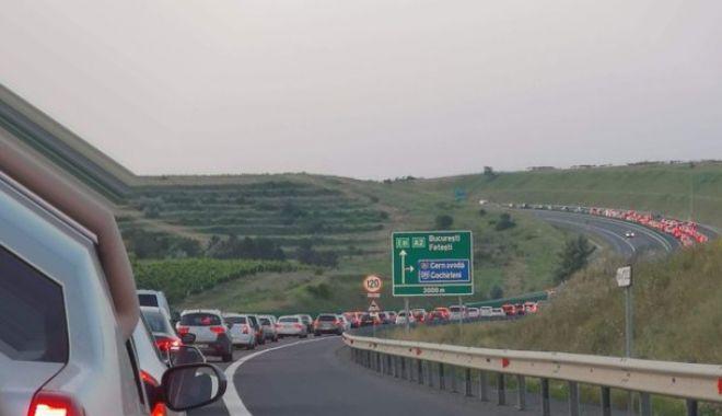 Foto: Trafic deviat pe Autostrada Soarelui