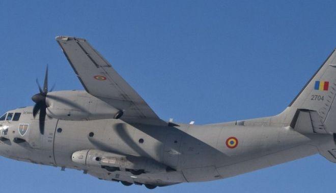 Foto: Aeronavă C-27J Spartan, misiune specială! Unde zboară și cine sunt membrii echipajului