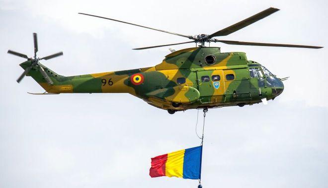 Foto: Antrenamente cu aeronave militare pentru Ziua Aviației Române și a Forțelor Aeriene