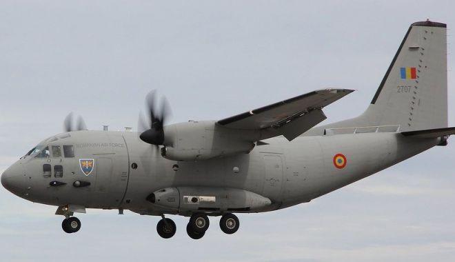Foto: Misiune specială pentru o aeronavă de tip C-27J Spartan. Cine a pilotat-o și pe cine a transportat