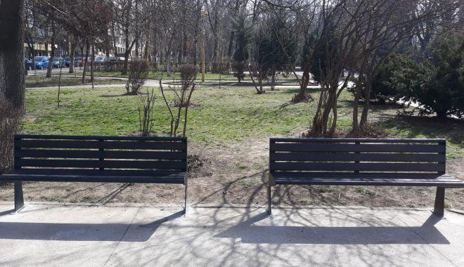 Foto: Galerie foto. Bănci și coșuri de gunoi noi, în municipiul Constanța