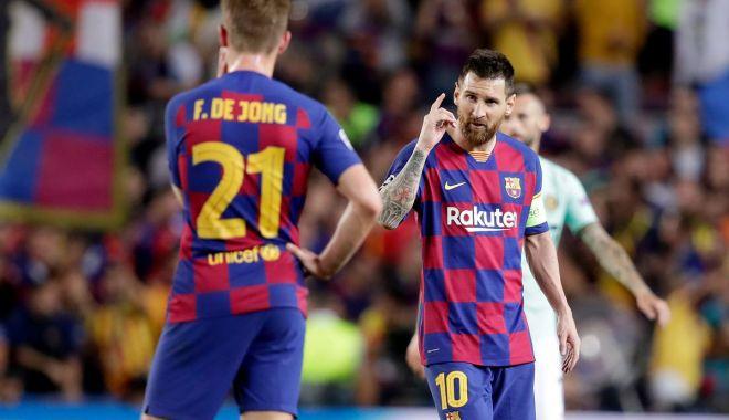 Foto: Gest superb făcut de jucătorii Barcelonei pentru revenirea lui Neymar