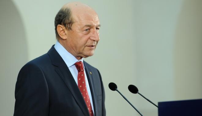 """Foto: Traian Băsescu: """"Nu vreți s-o lăsați mai încet cu Ghiță care câștigă tot în lumea asta"""""""