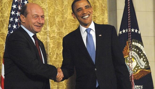 Foto: Traian Băsescu s-a întâlnit cu Barack Obama
