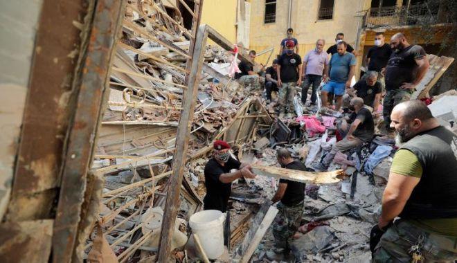 Foto: Beirut, un oraș în ruine: Căutări pentru găsirea supraviețuitorilor. Au sosit ajutoare din toată lumea